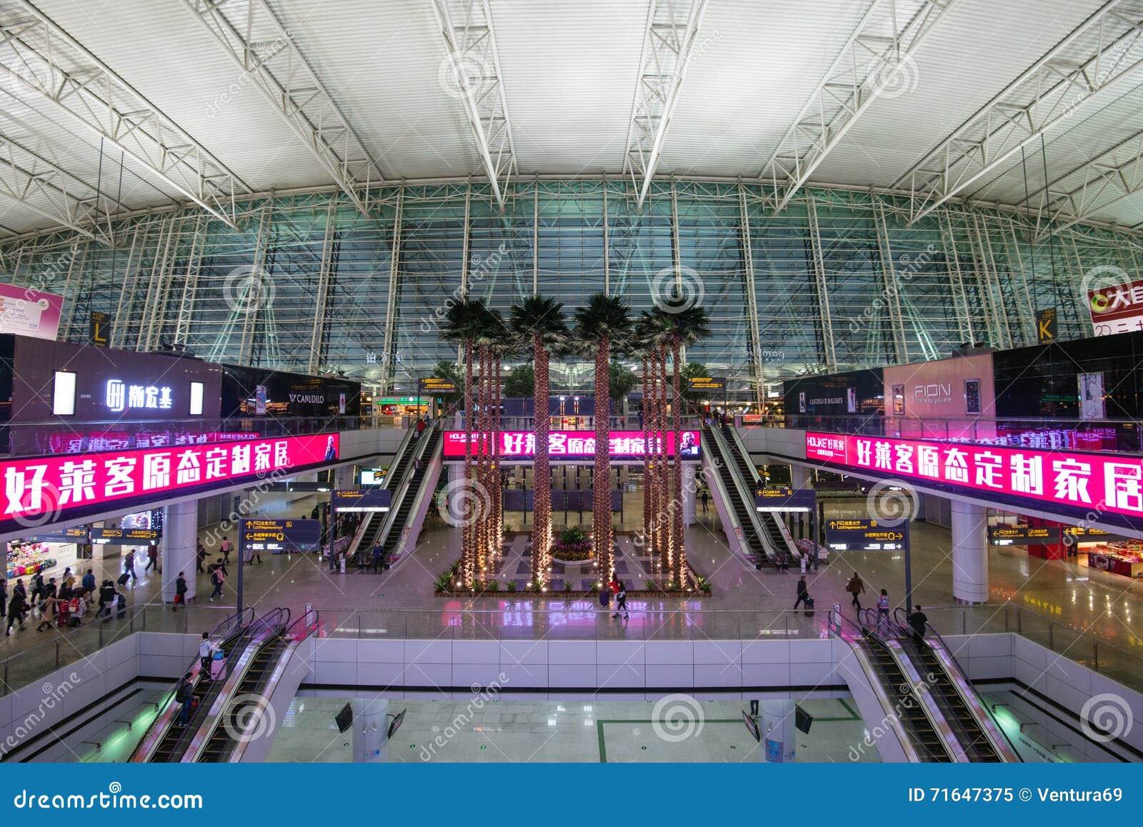 Aeroporto Guangzhou Arrive : Interior of baiyun international airport china editorial image