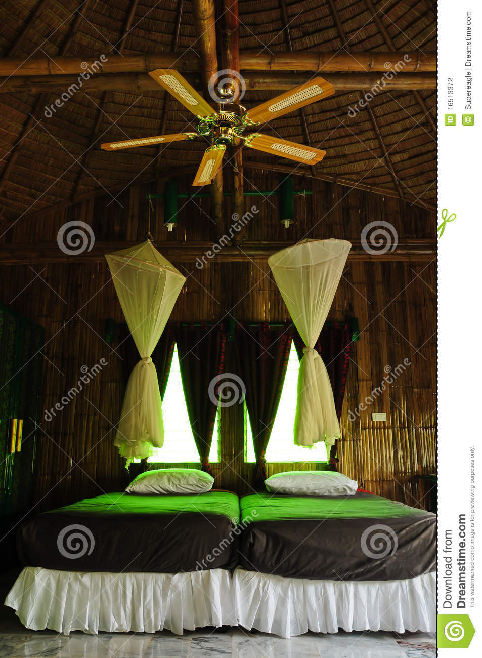 interior, bamboo house stock photography - image: 16513372