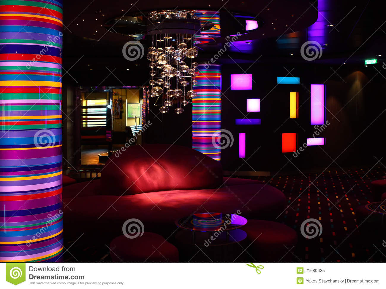 Interior Of The Bar Disco Royalty Free Stock Photo Image