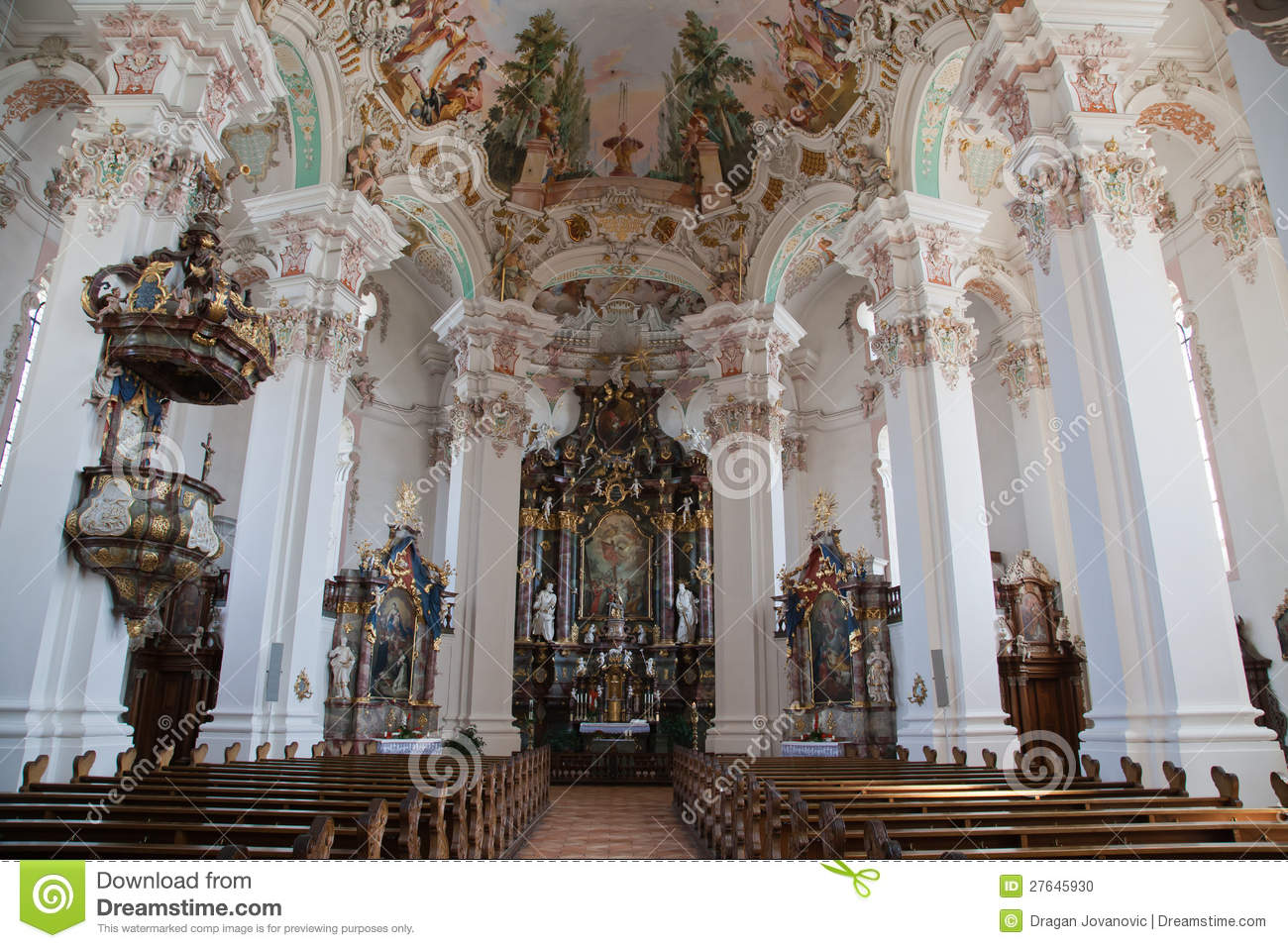Interior baroque church stock photo image 27645930 for Interieur baroque