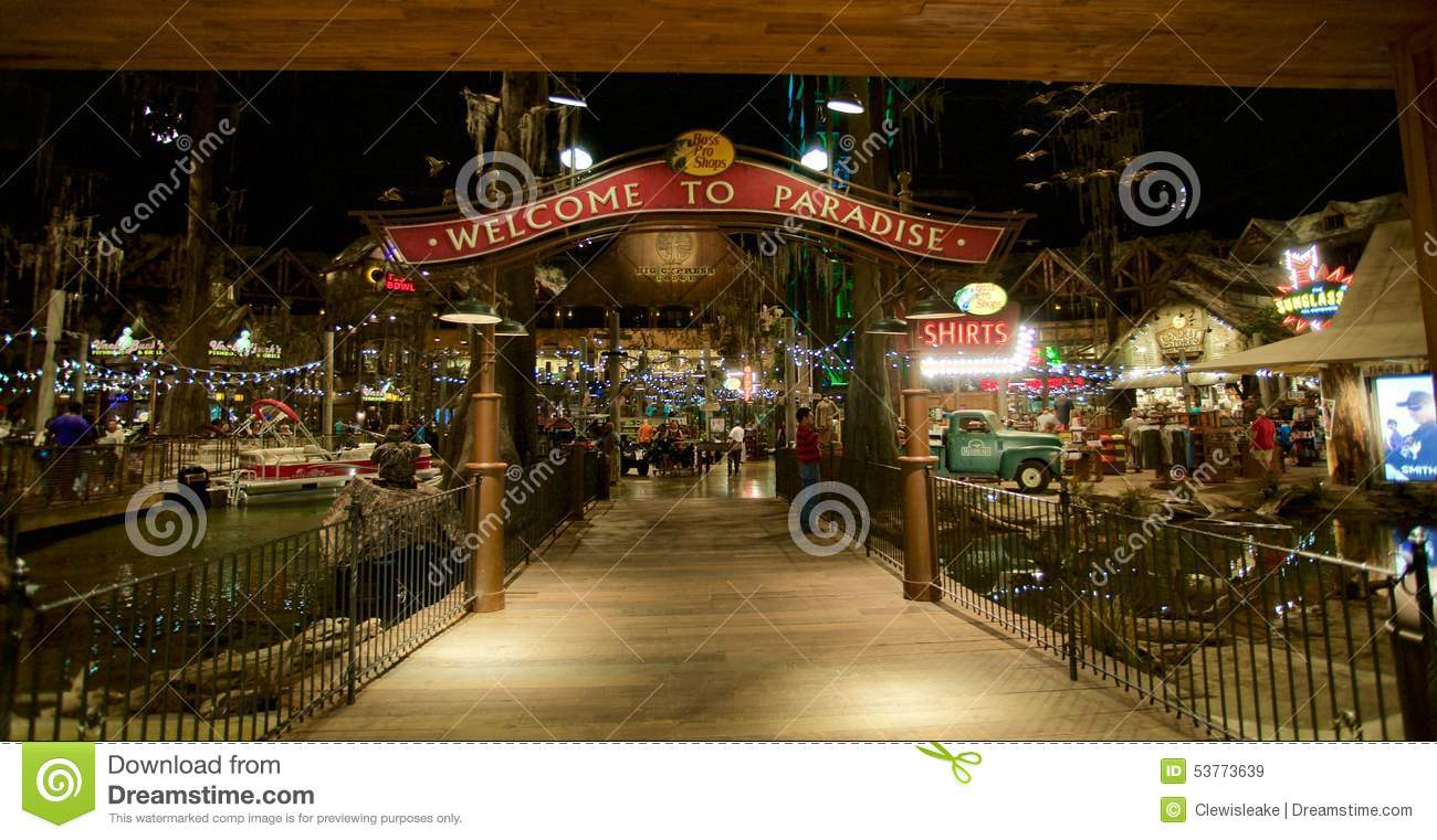 Interior Of The Bass Pro Shop, Memphis Tennessee Royalty Free Stock Images