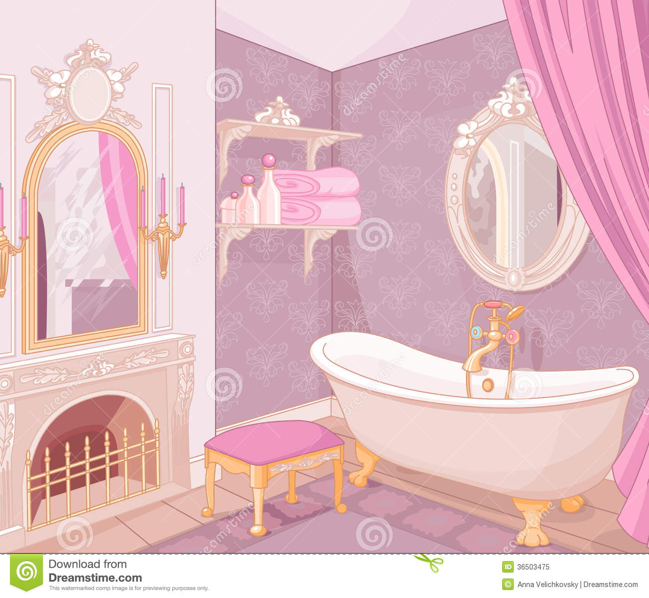 ... Of Bathroom In The Palace Royalty Free Stock Photo - Image: 36503475