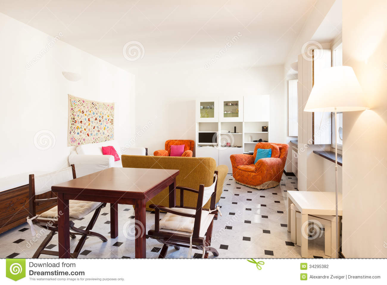 Interior beautiful apartment stock photography image Beautiful apartment interiors