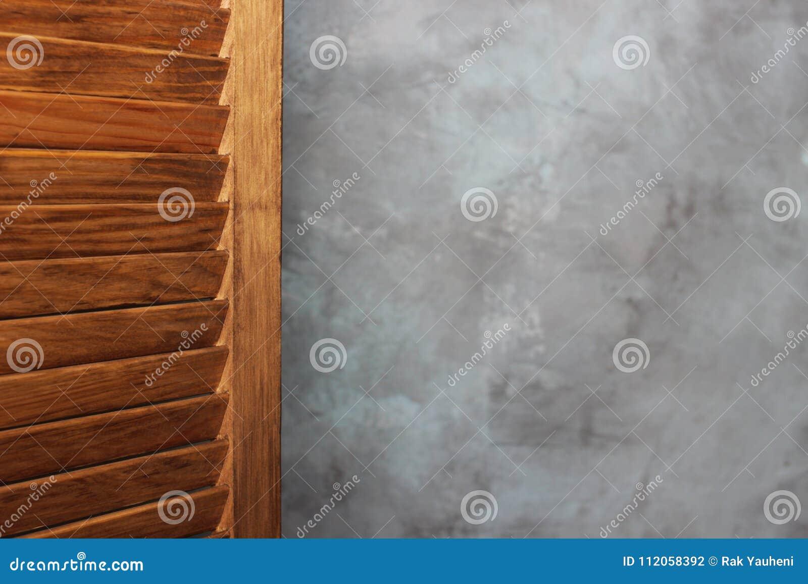 Wooden Screen Door Made Of Wood Folding Screen Stock Photo Image
