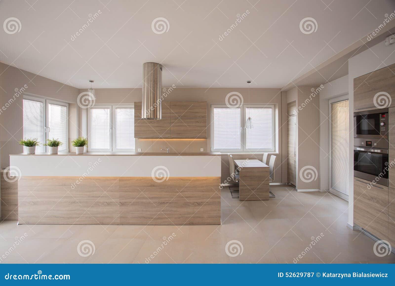 Interior Bege Da Cozinha Foto de Stock Imagem: 52629787 #85A724 1300 957