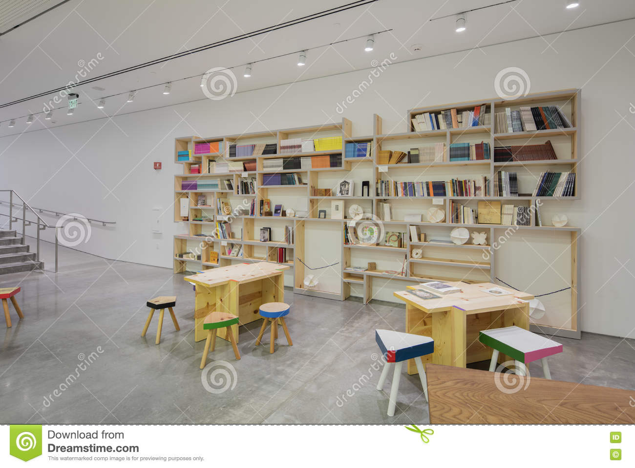 Interior of berkeley art museum and pacific film archive editorial photo image of gallery for Berkeley extension interior design