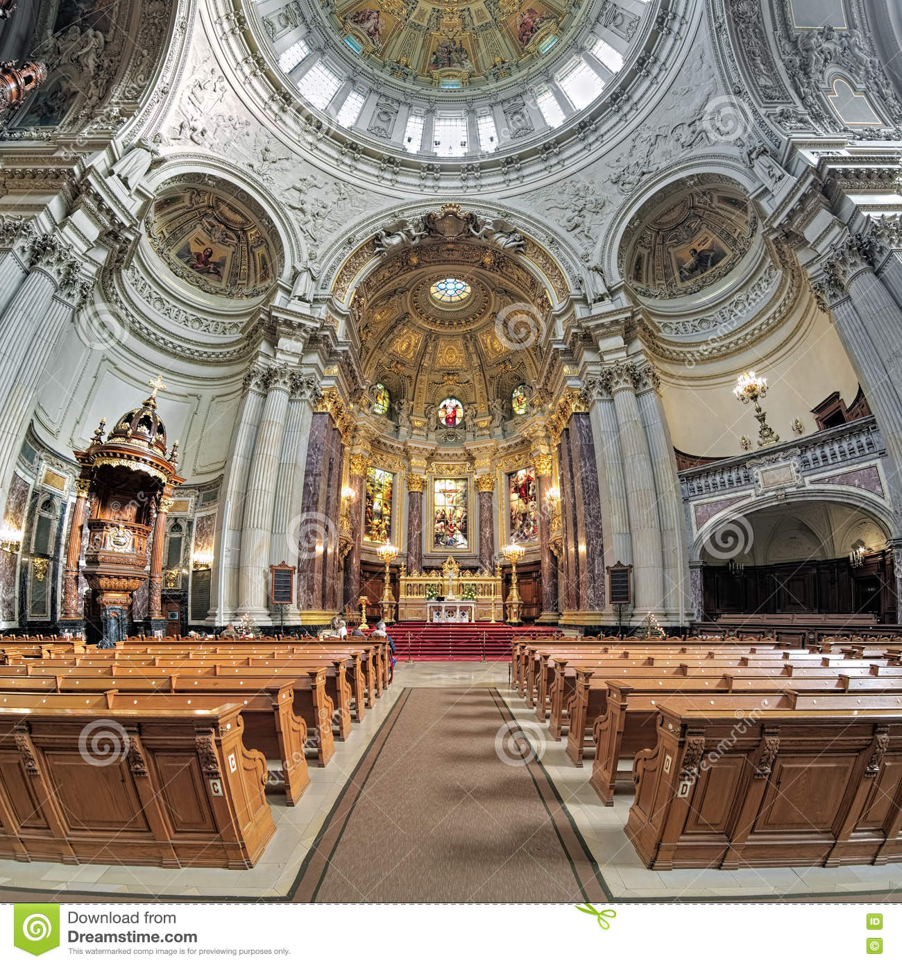 Interior Of Berlin Cathedral Germany Editorial Image