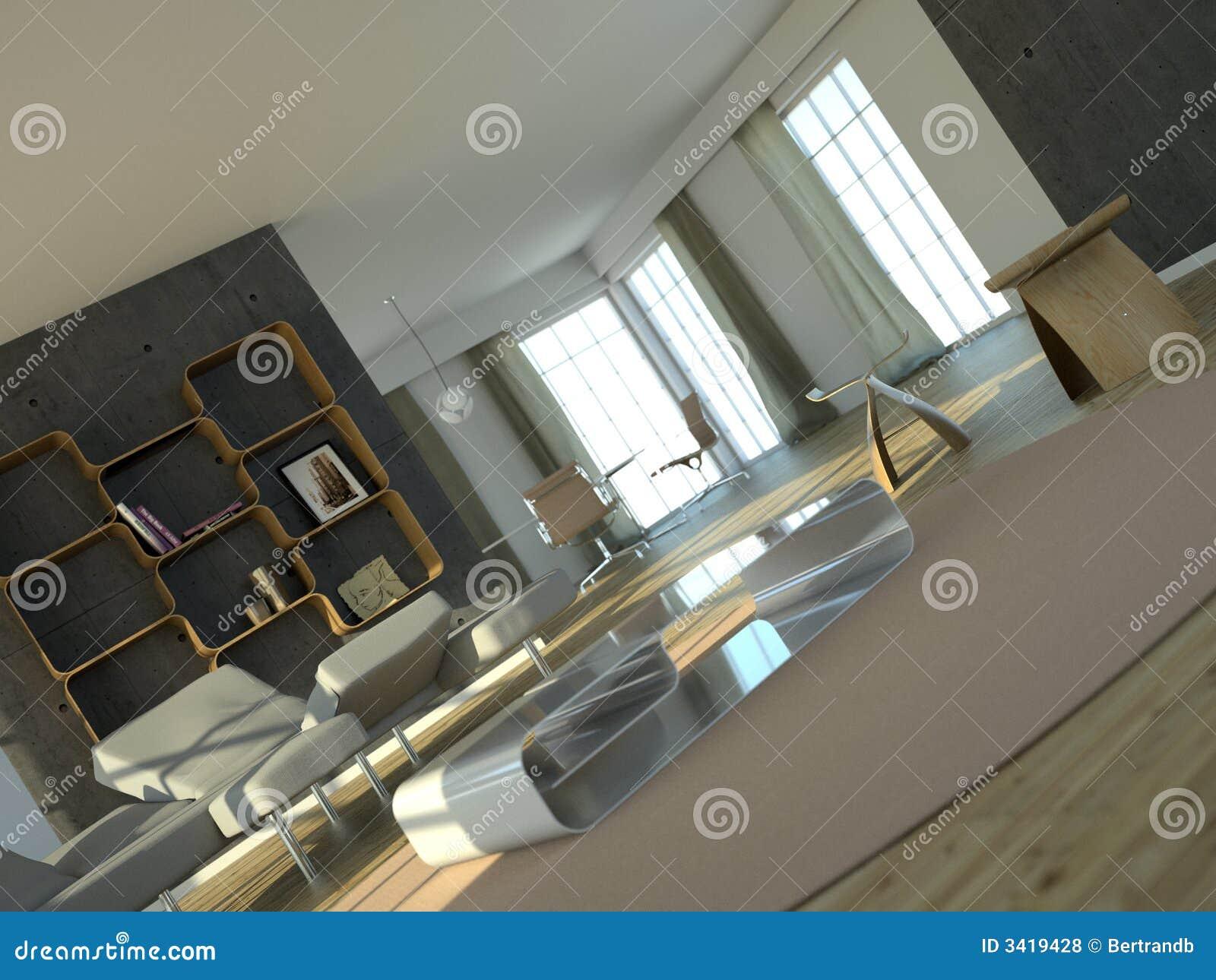 Interior blanco grande