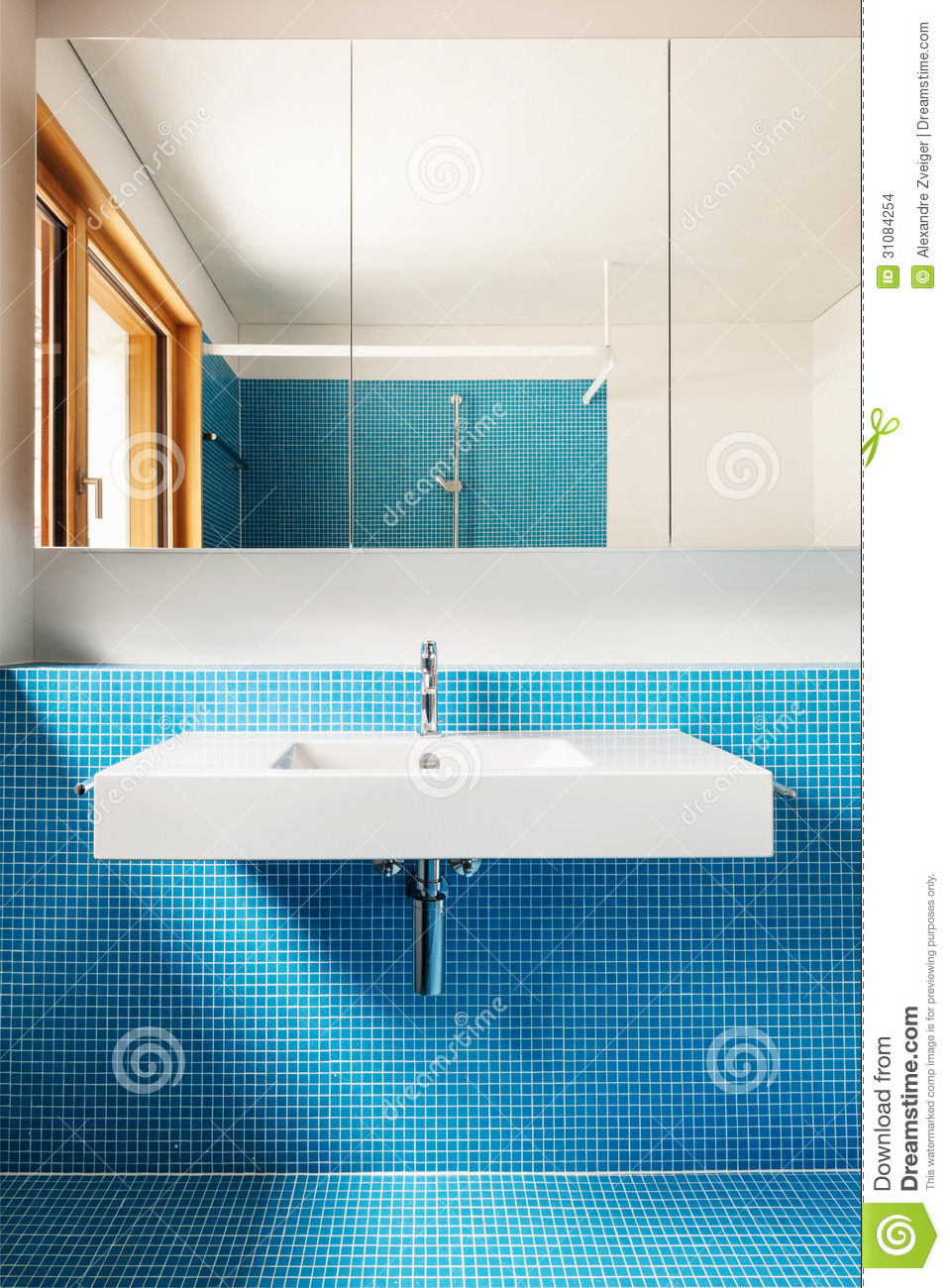 Interior Blue Bathroom Stock Photo Image Of Sparse 31084254