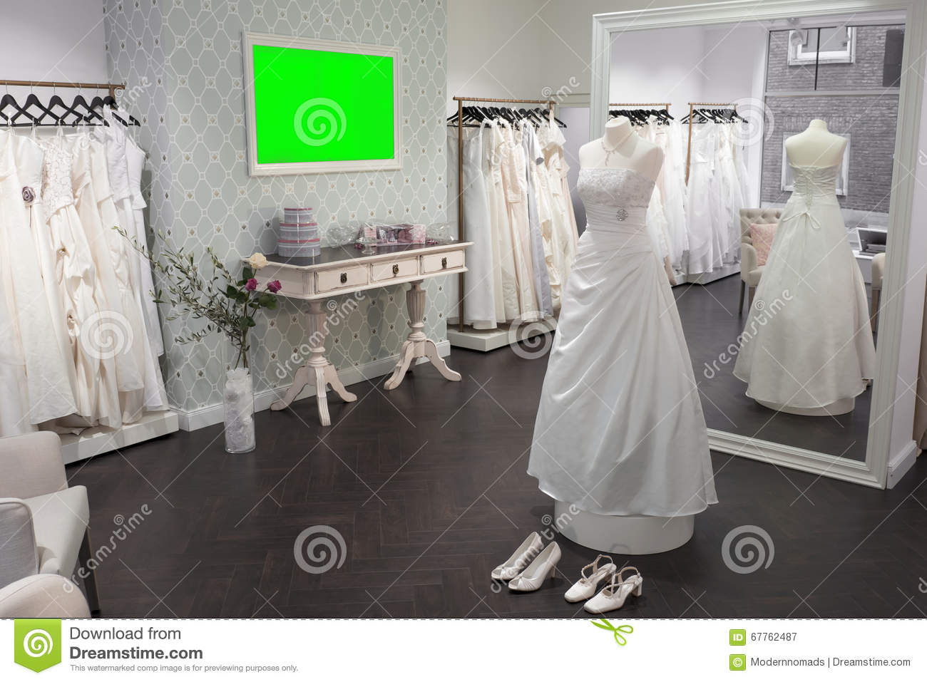 Interior Bridal Shop, Mirror, Mannequin And Shoes, Wide Stock Image   Image  Of Elegance, Backgrounds: 67762487