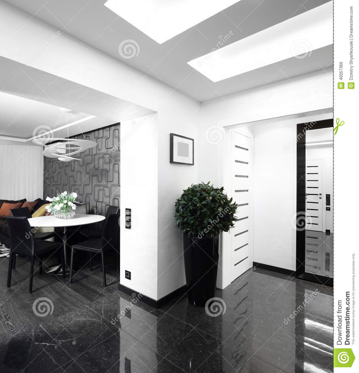 Interior Of Bright Hallway Home Stock Photo - Image of ... on home modern house design, tv interior design hall, office hall, tile hall, home luxury house interior,