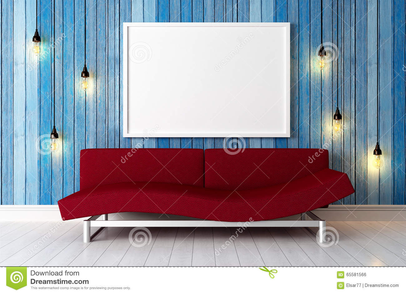 Interior brilhante moderno 3d rendem