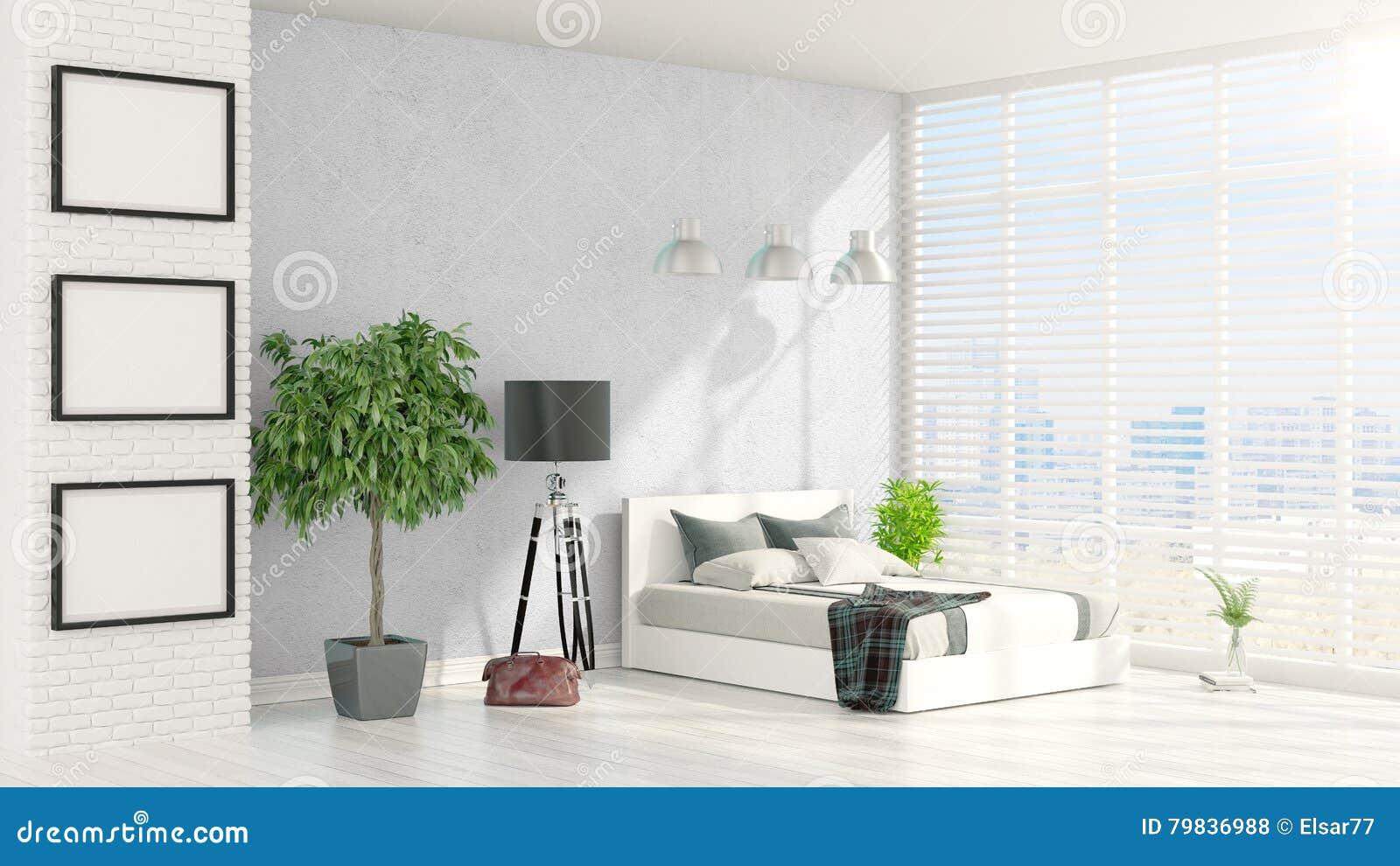 Interior brilhante moderno rendição 3d