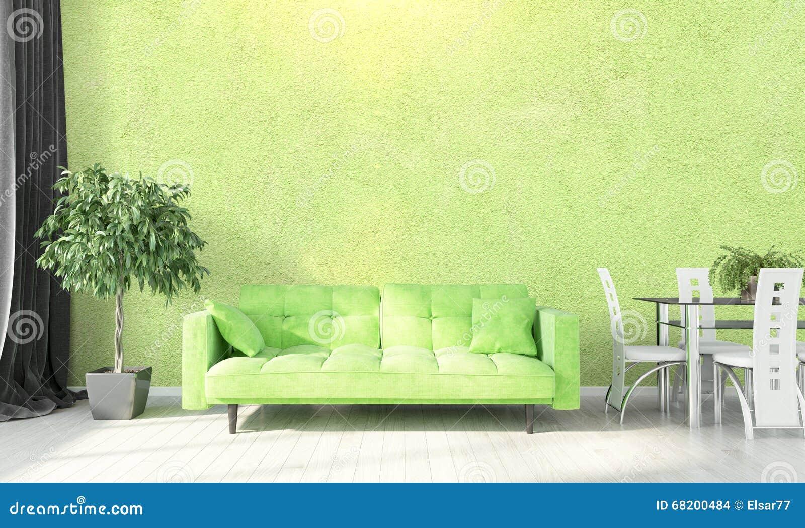 Interior brillante moderno 3d rinden