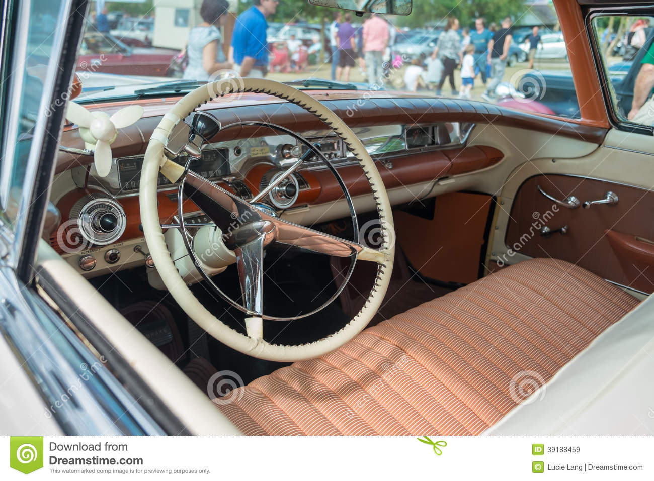 interior of a 1958 buick limited classic car editorial stock image image 39188459. Black Bedroom Furniture Sets. Home Design Ideas