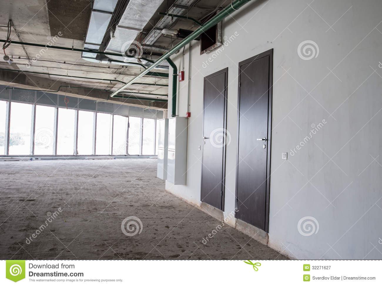 Interior Of The Building Under Construction Royalty Free ...