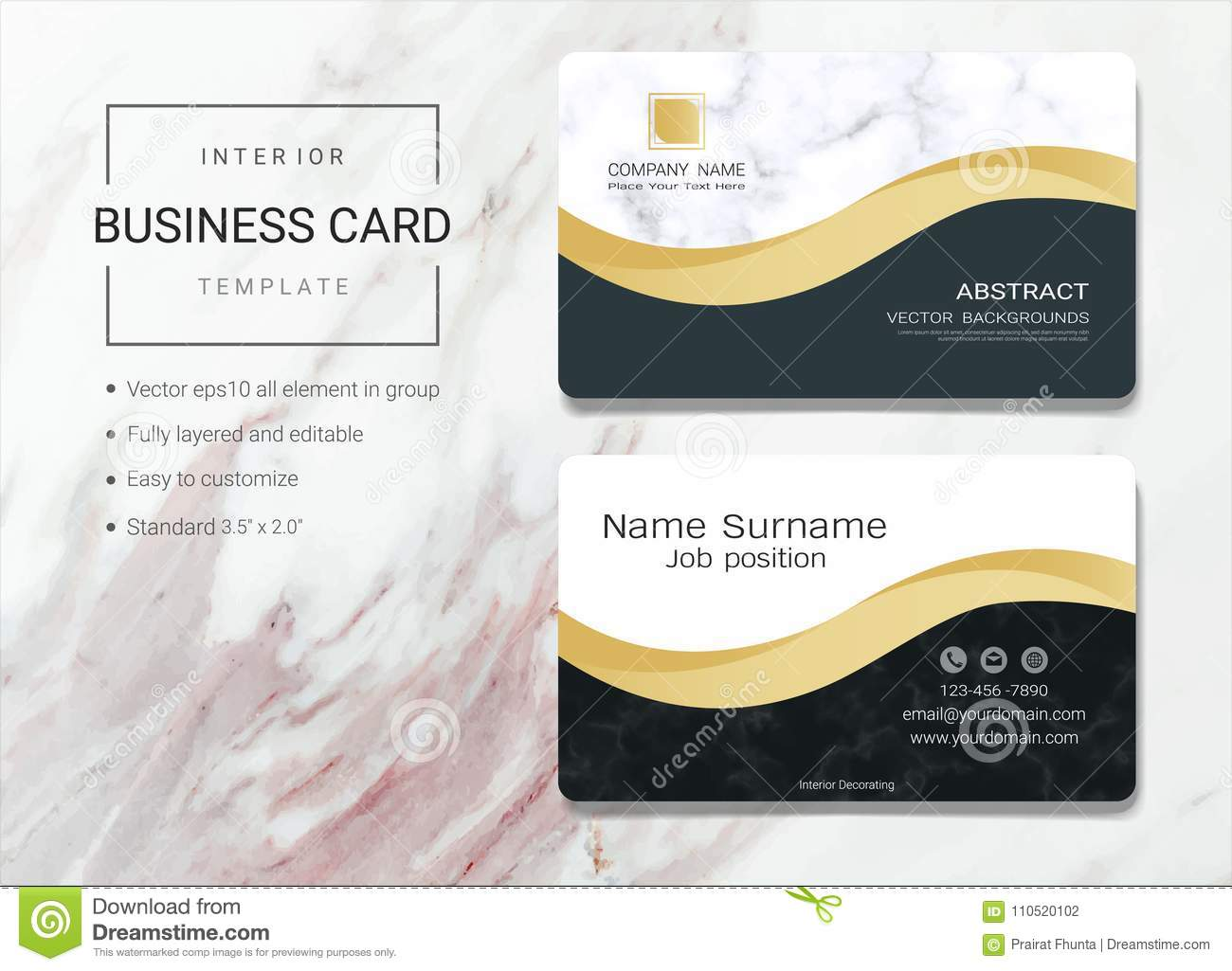 Interior business card or name card template stock vector download comp accmission Gallery