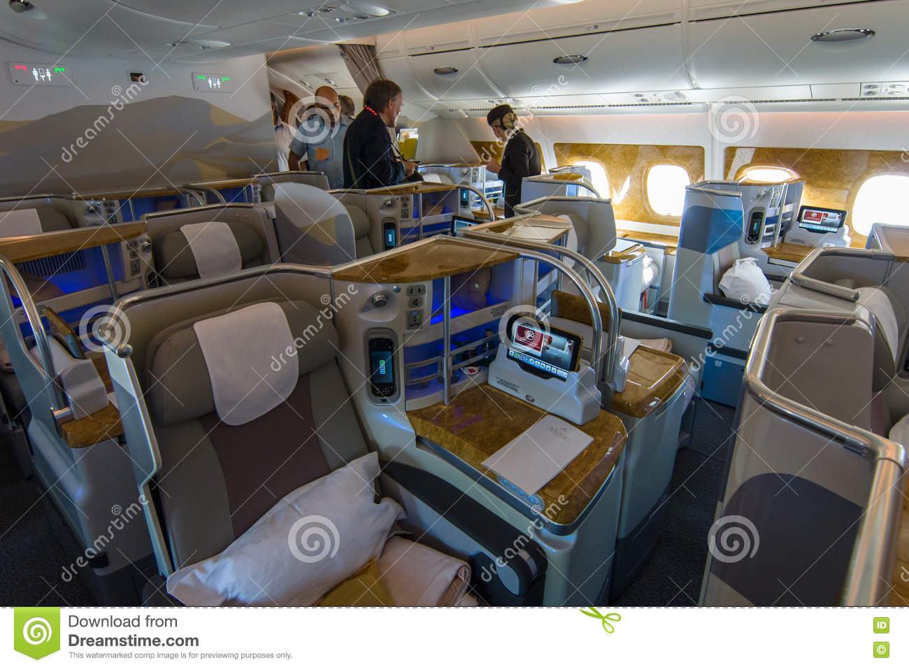 Interior Of Business Class Of The World 39 S Largest Aircraft
