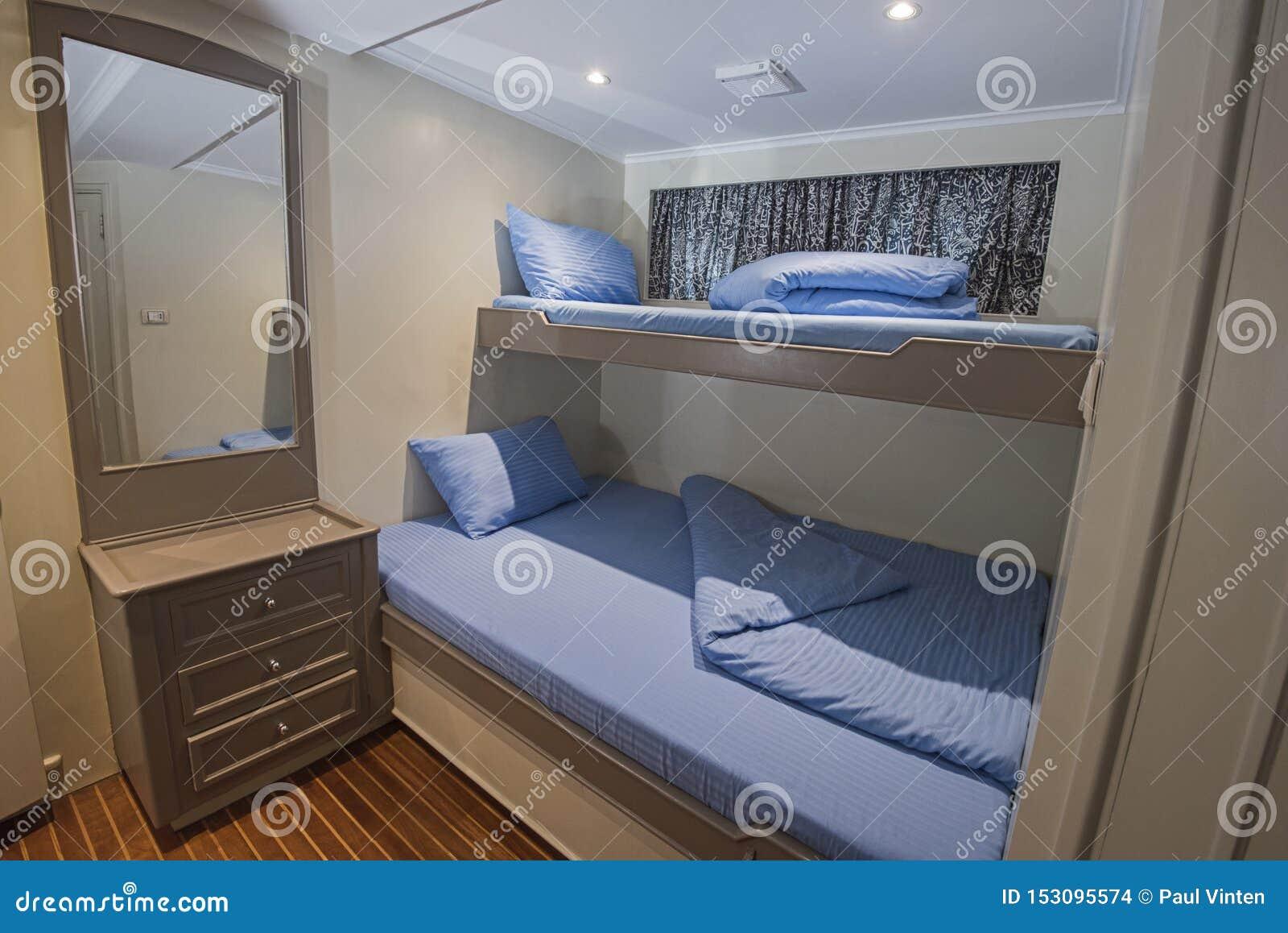 Interior Of Cabin On Luxury Yacht Stock Photo Image Of Indoor Nautical 153095574
