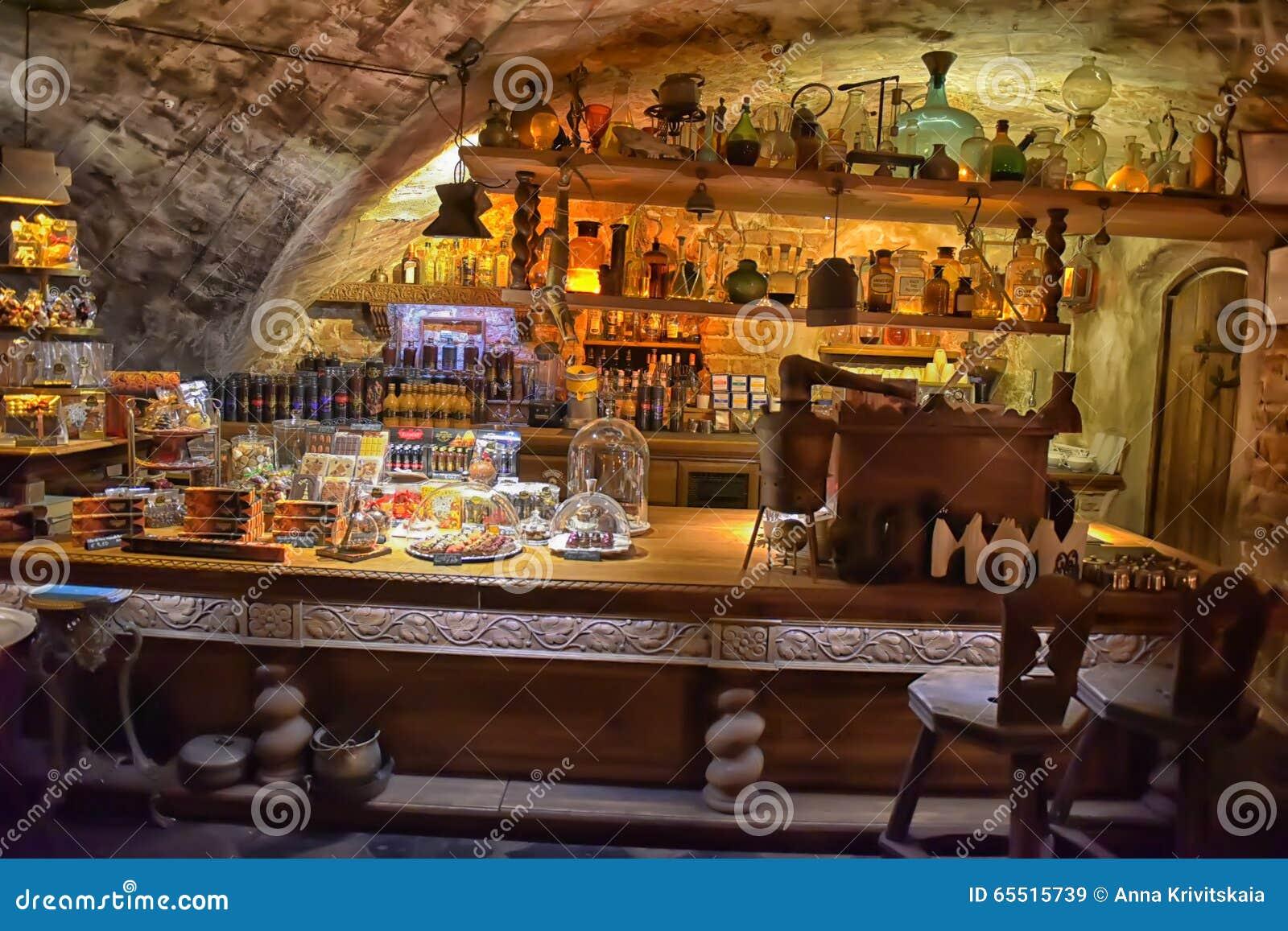 Interior cafe Black Magic editorial stock image. Image of 18th - 65515739