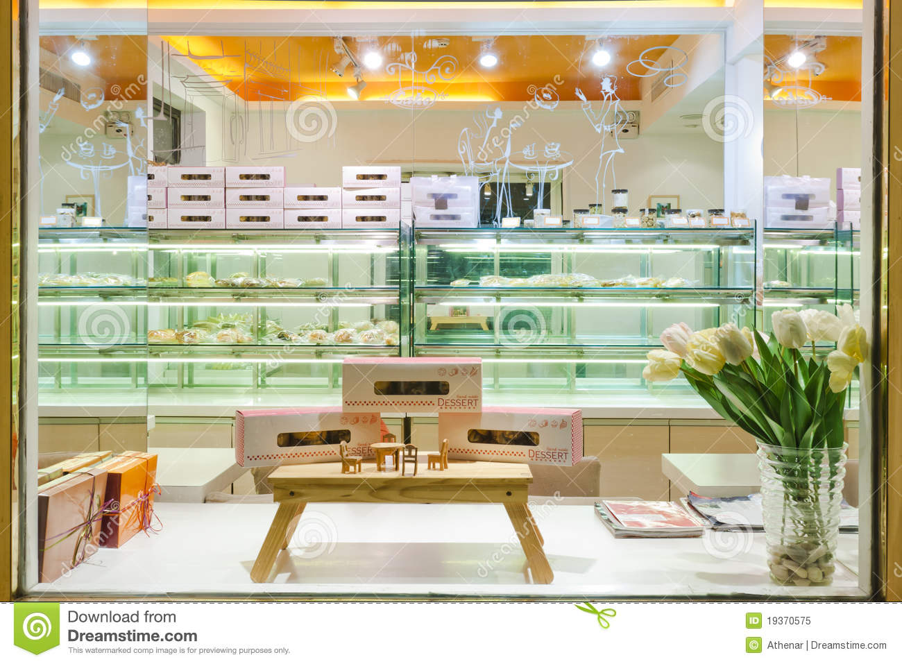 Interior Of Cake Shop Royalty Free Stock Photo Image