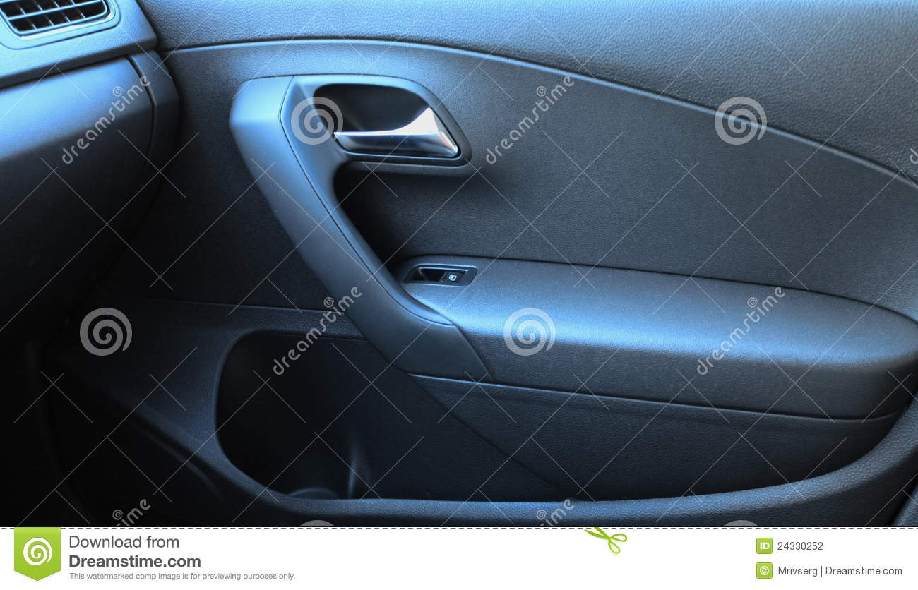 car interior black door panel nobody and close up stock photo 73899240. Black Bedroom Furniture Sets. Home Design Ideas