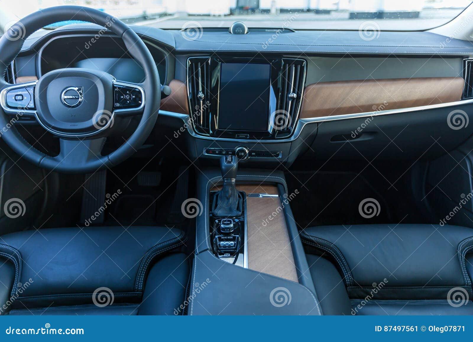 Volvo S90 Interior >> Interior Car Volvo S90 Editorial Photo Image Of Automotive