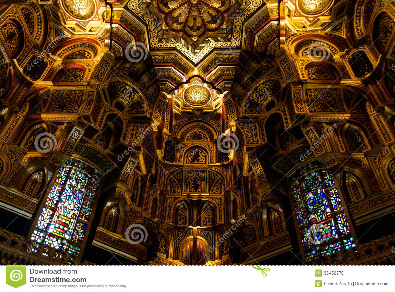 Interior of cardiff castle wales united kingdom royalty for Images of interior