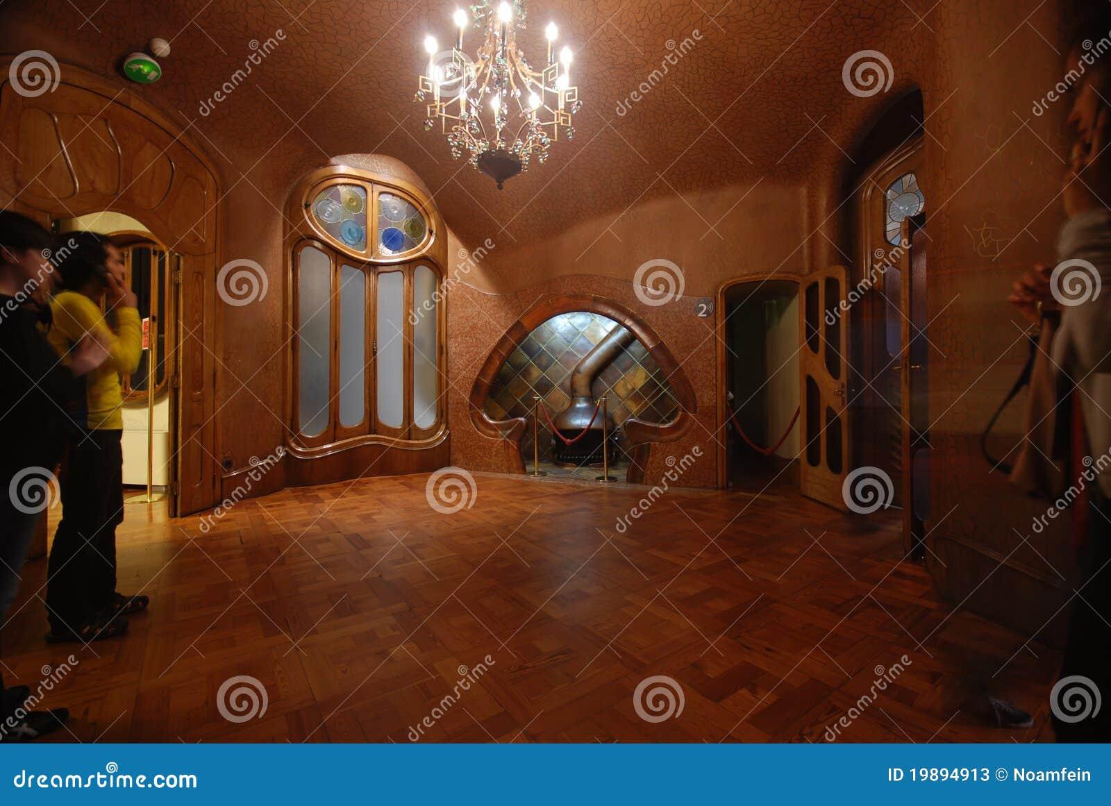 Interior of casa batllo editorial stock photo image of for Casa interior