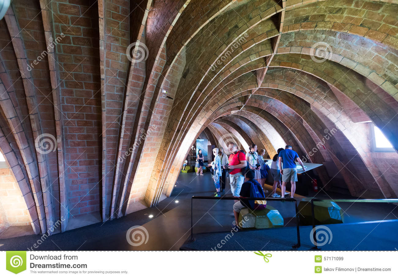 Interior Of Casa Mila Editorial Stock Image Image 57171099