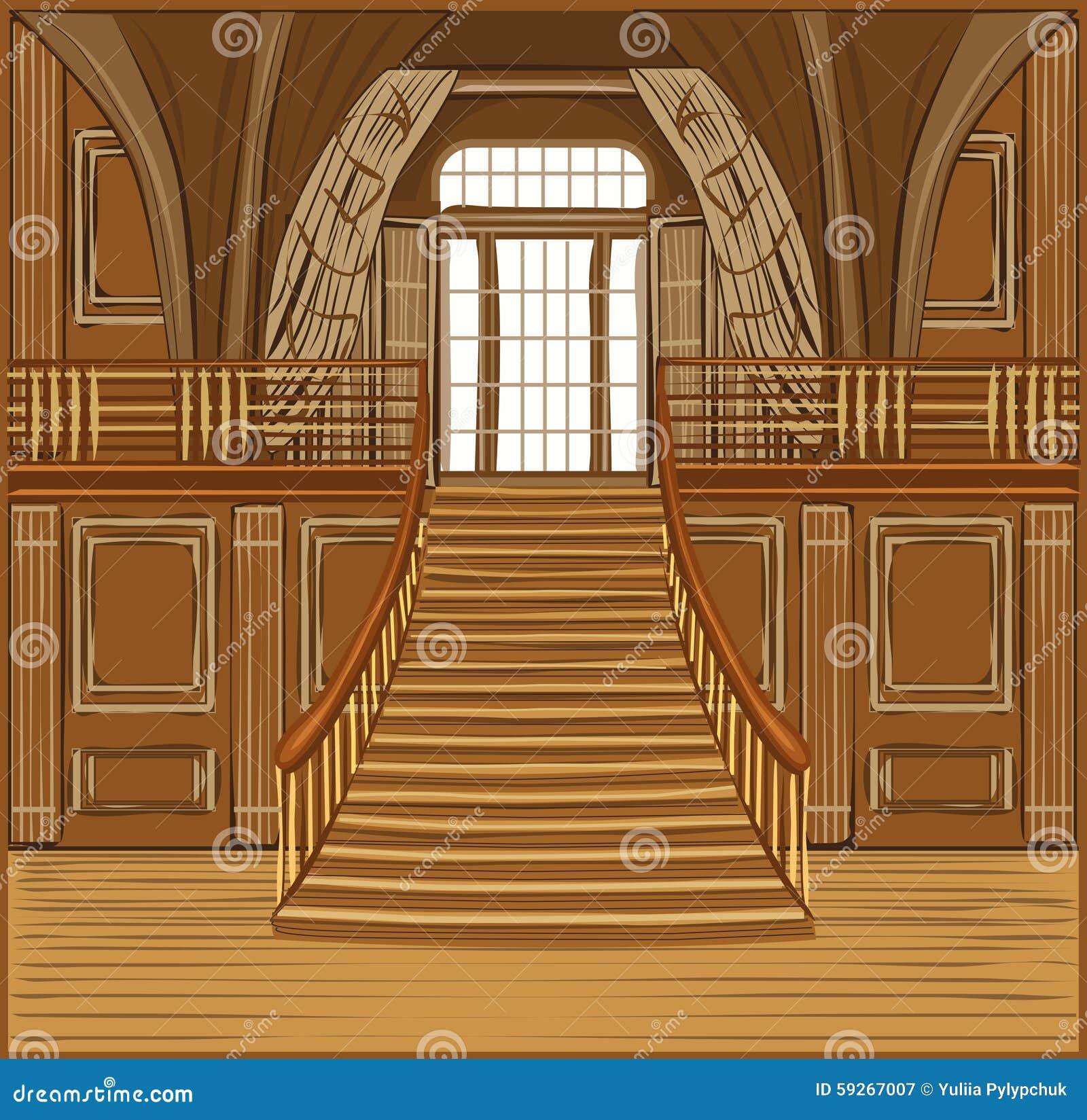 Interior Of Castle Stock Vector Image 59267007