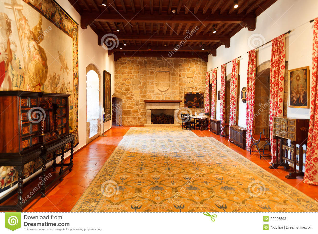 Interior Of A Castle's Inner Room Stock Photos - Image ...