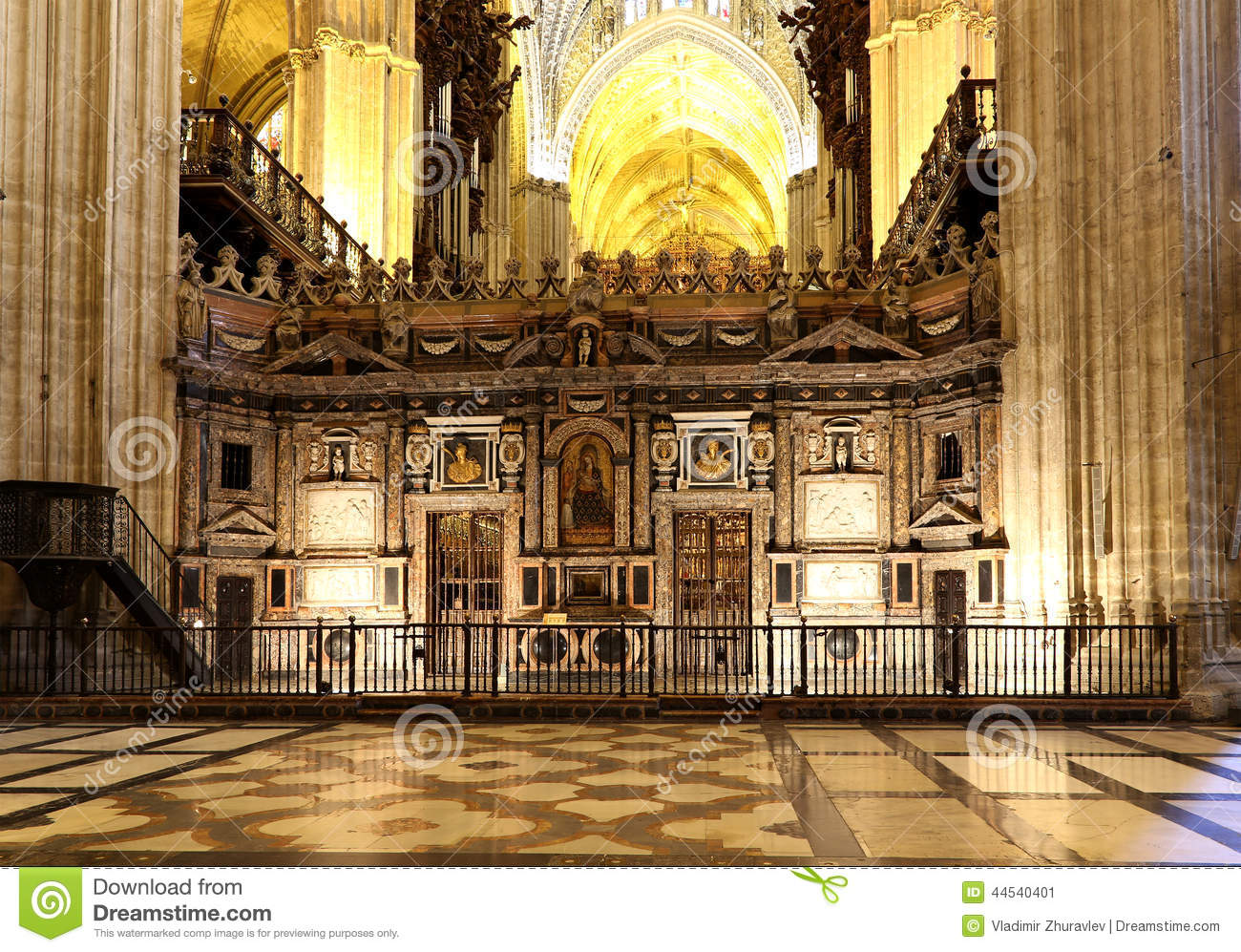Interior Cathedral of Seville -- Cathedral of Saint Mary of the See, Andalusia, Spain