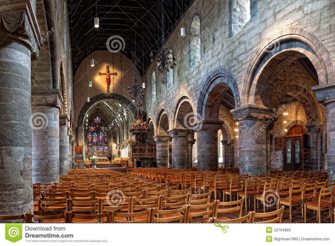 Interior Of The Cathedral In Stavanger Stock Photos - Image: 22704893