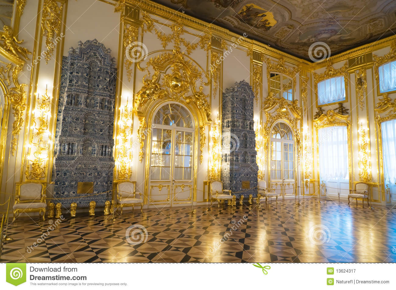Interior Of Catherine Palace Royalty Free Stock