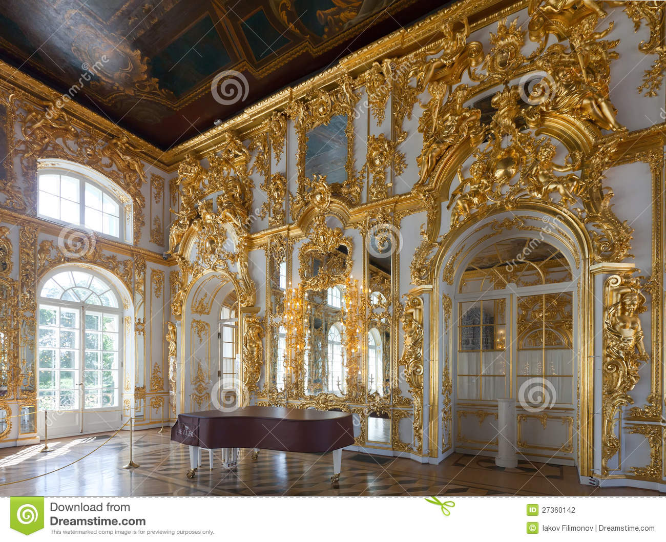 Interior Of Catherine Palace Editorial Photography Image