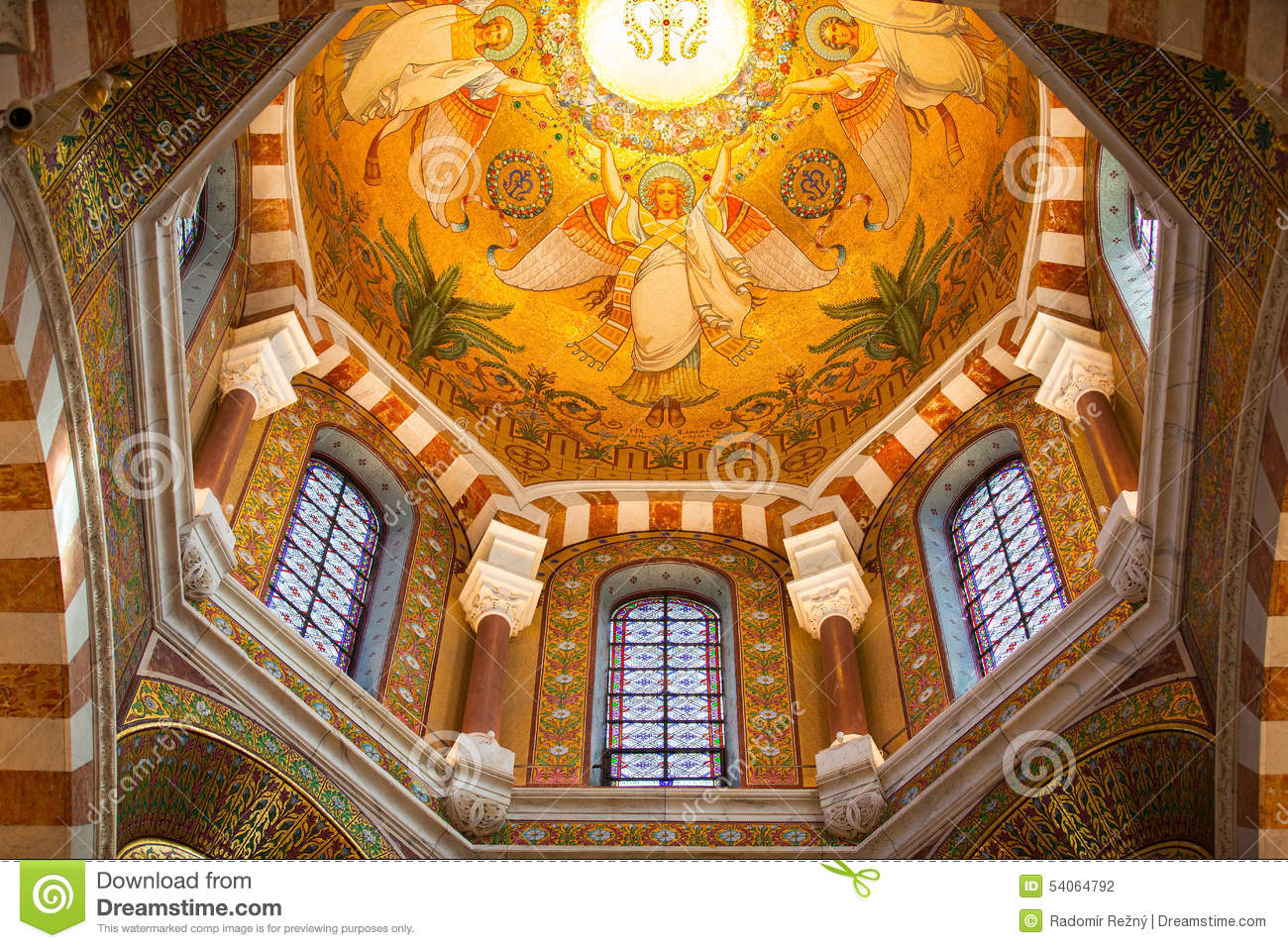 Interior In Catholic Basilica Notre Dame De La Garde Editorial Photography Image 54064792