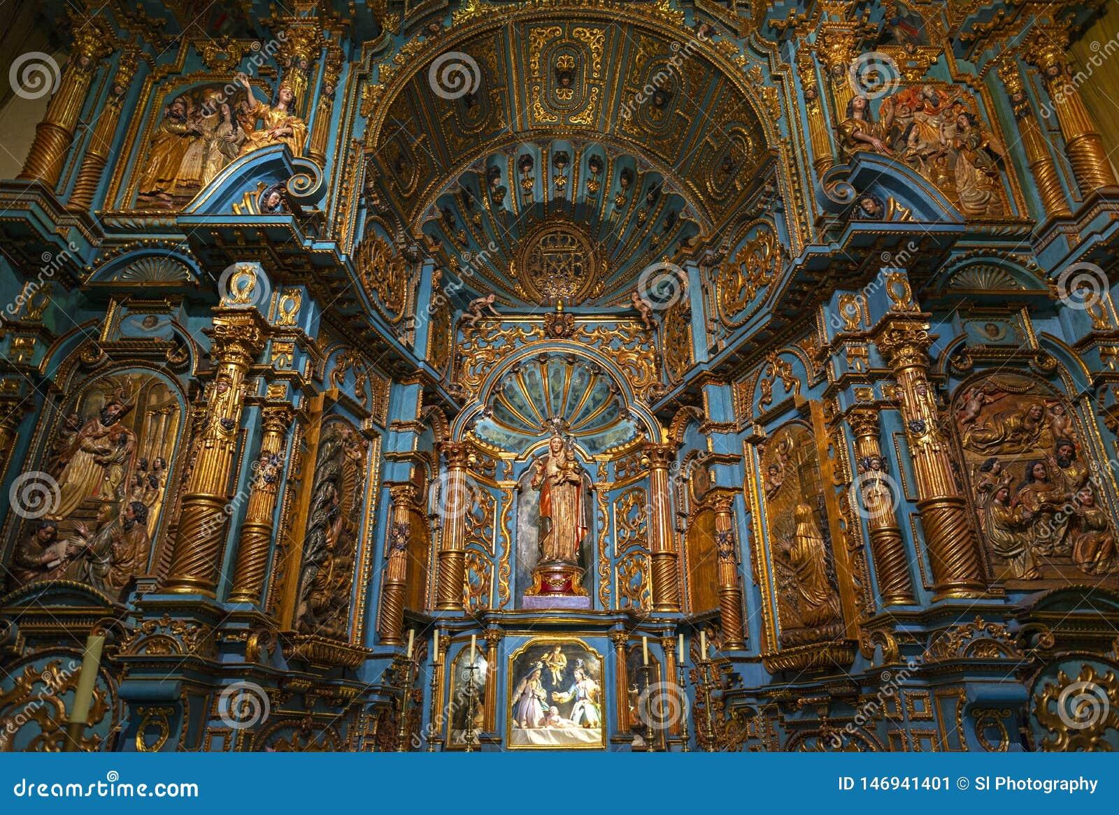 Lima Metropolitan Cathedral Baroque Interior, Peru