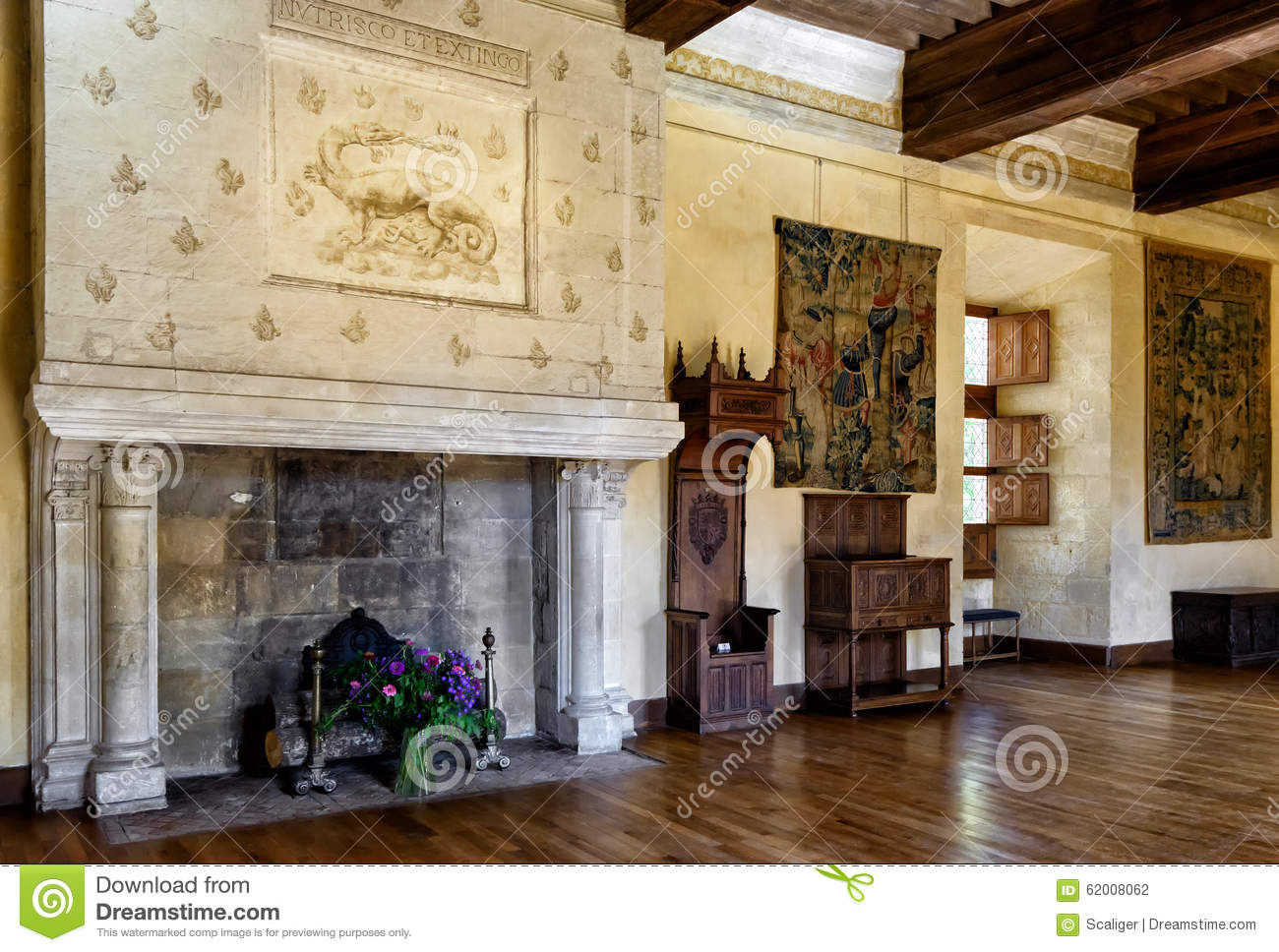 Interior Chateau De Azay Le Rideau France Editorial