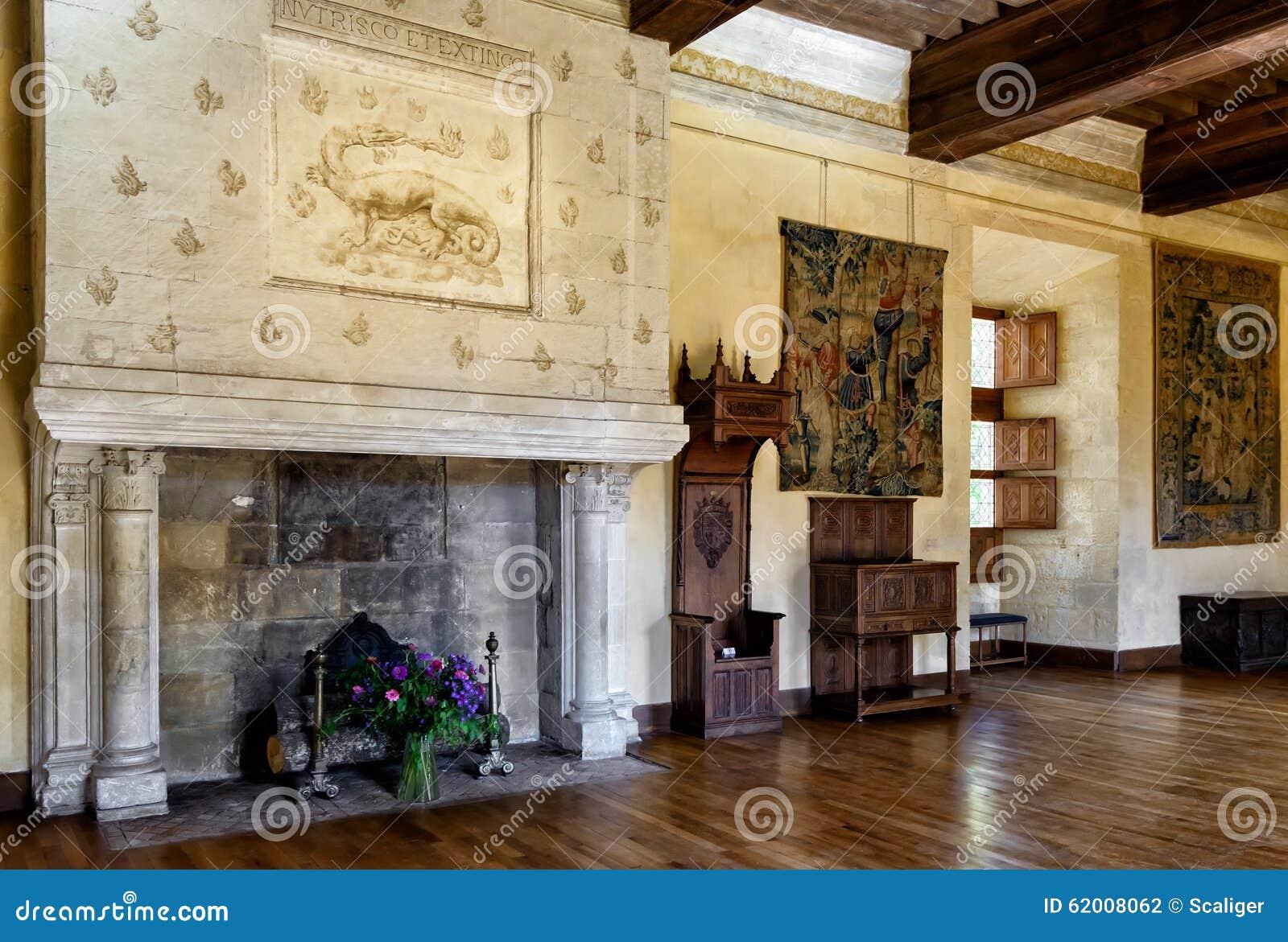 interior chateau de azay le rideau france editorial. Black Bedroom Furniture Sets. Home Design Ideas