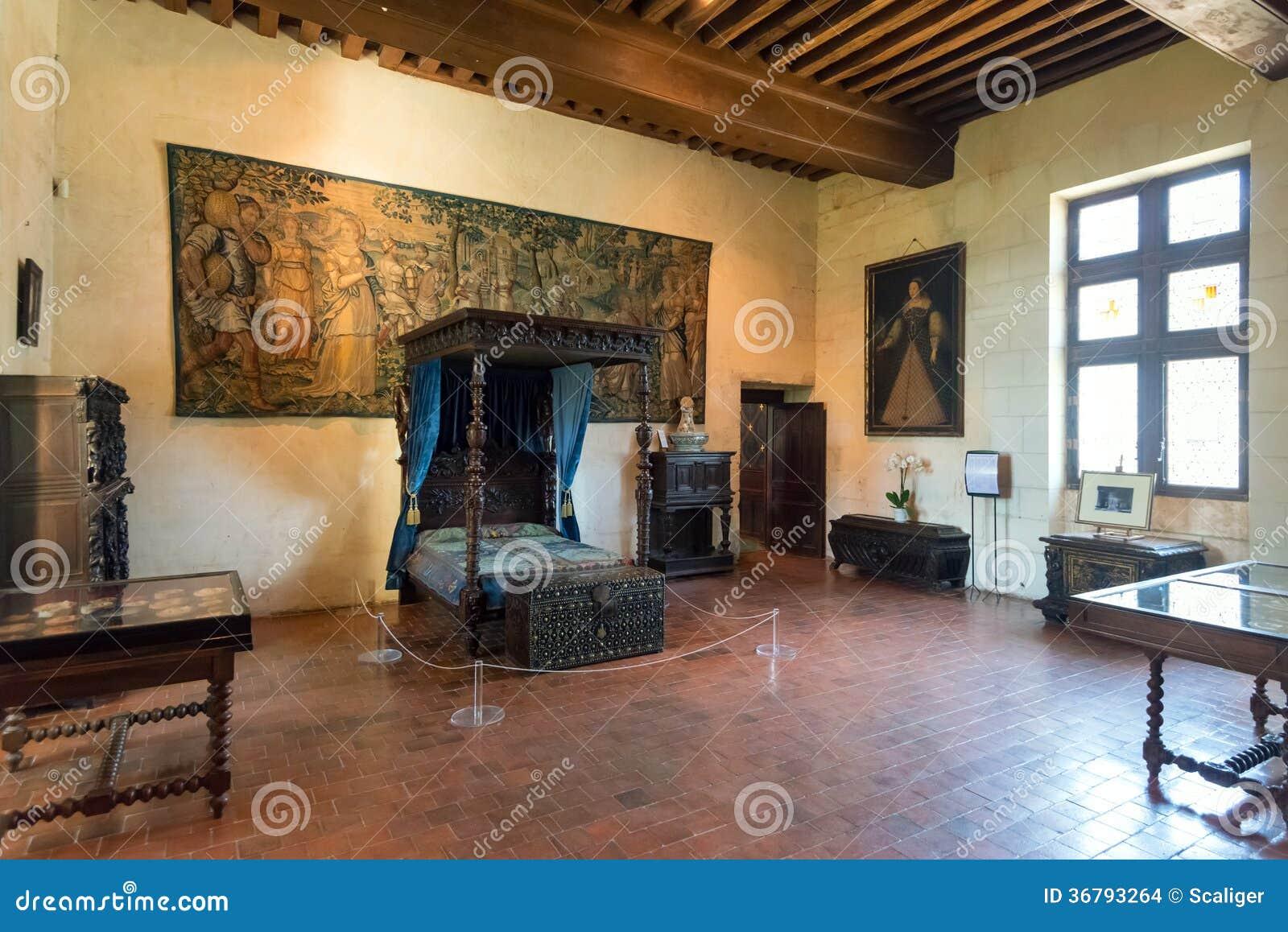 Interior Chateau De Chaumont Sur Loire France Editorial