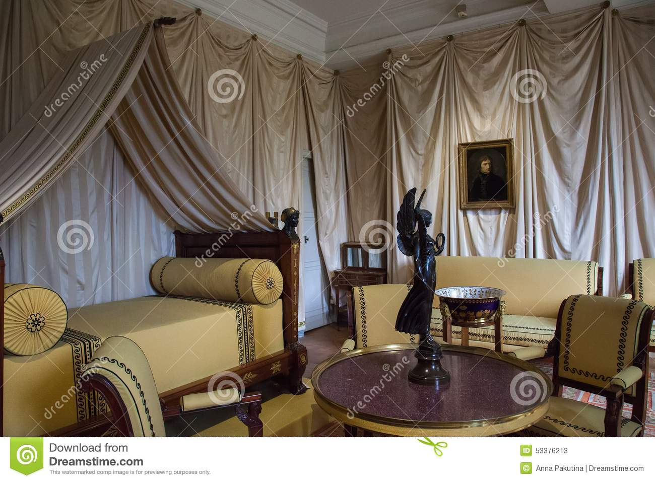interior of chateau de malmaison france editorial stock photo image 53376213. Black Bedroom Furniture Sets. Home Design Ideas