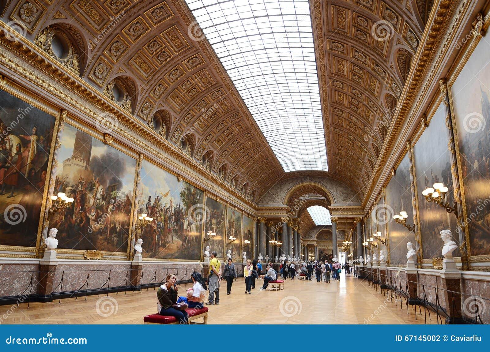 Interior Of Chateau De Versailles (Palace Of Versailles) Near Paris ...