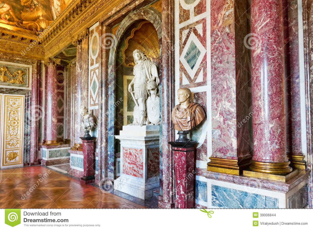 Interior Chateau Of Versailles Stock Photo - Image of corridor ...