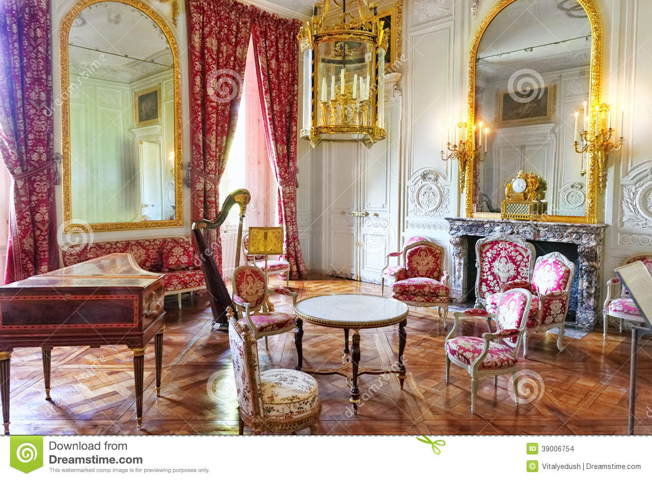 Interior chateau of versailles paris france stock photo for Interieur frans