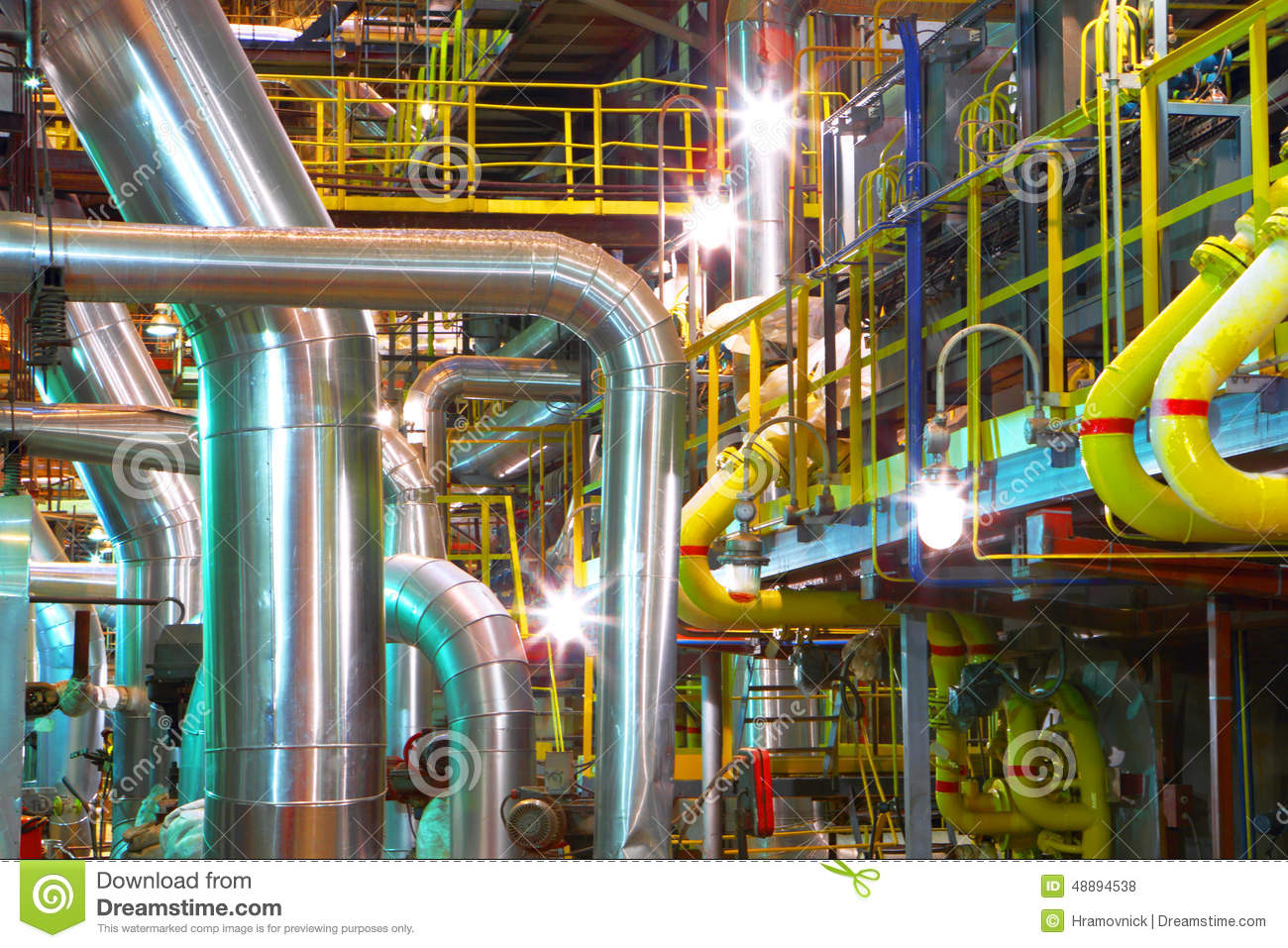 Interior of chemical factory stock photo image 48894538 for Interieur usine