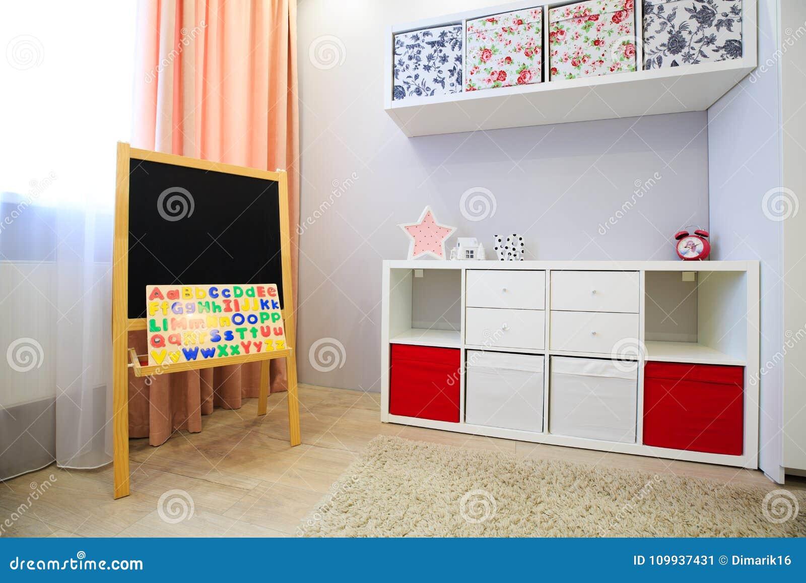 Interior of children room stock image. Image of children - 109937431