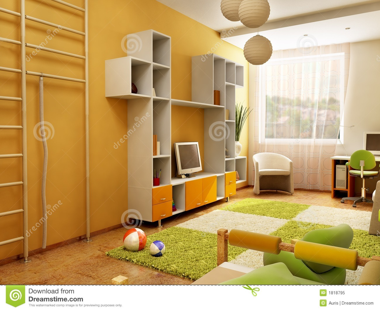 Interior Of The Children 39 S Room Royalty Free Stock Photo Image 1818795