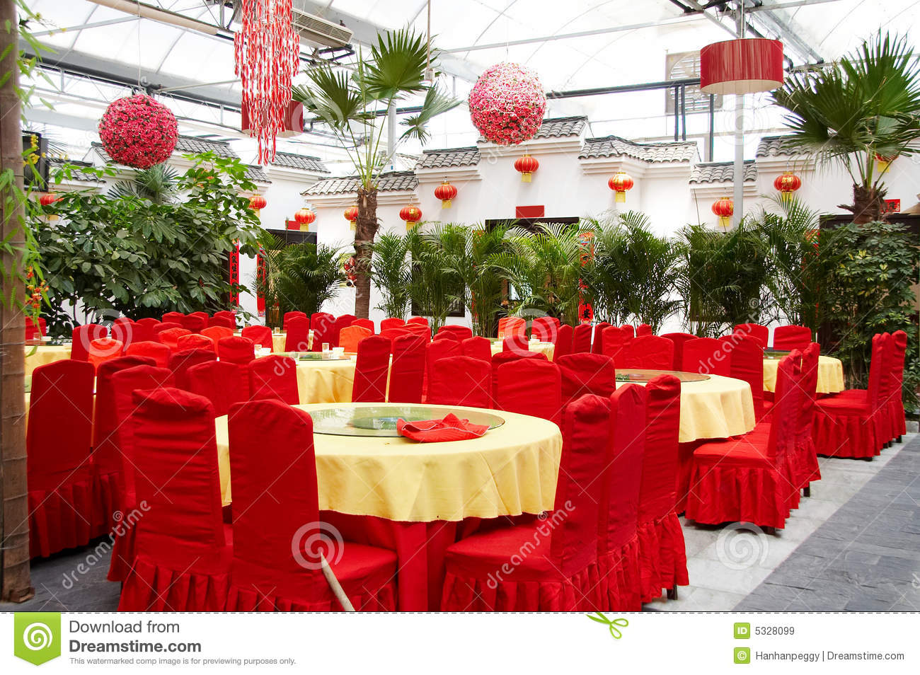 interior of chinese restaurant royalty free stock images - image