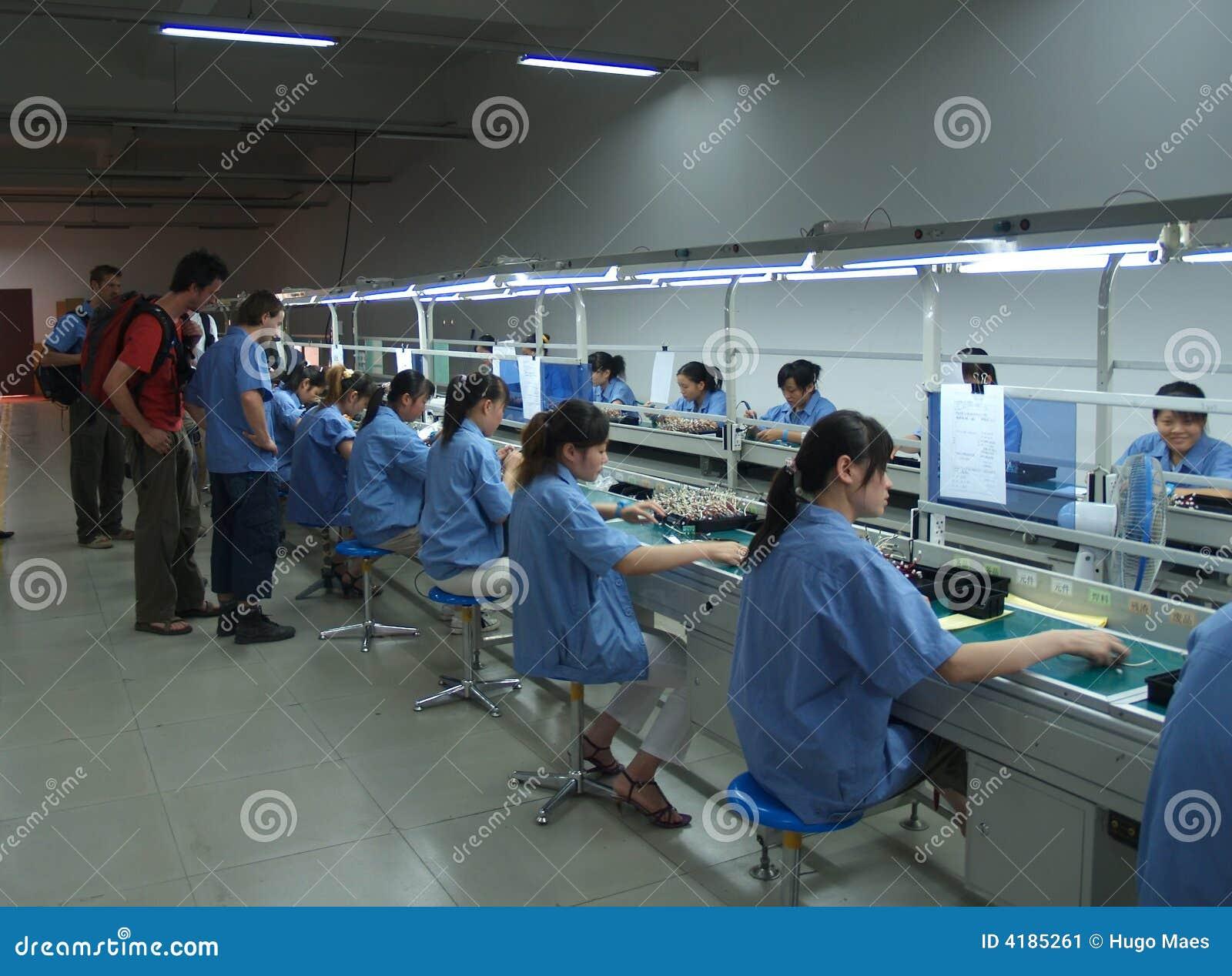 Interior chino de la fábrica de explotación